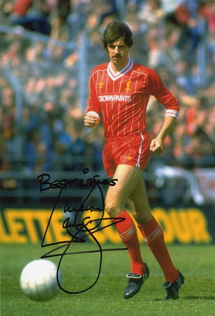 Mark Lawrenson, Liverpool, signed 12x8 inch photo.